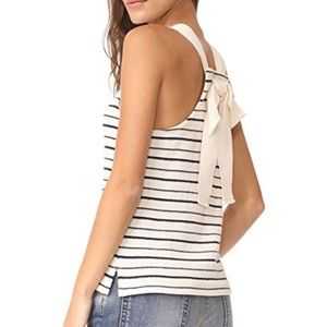 Madewell Stripe Back Bow Tank